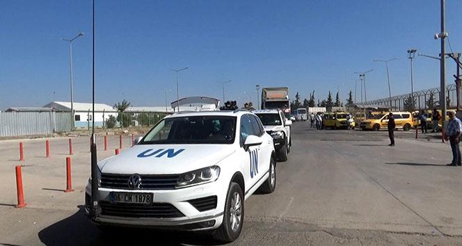 BM yardım konvoyu Suriye'ye geçiş yaptı !