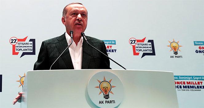 Cumhurbaşkanı Erdoğan: 'Teröre bulaşmış olanlar sandıktan çıkacak olurlarsa kayyum atarız'