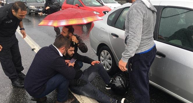 3 aracın karıştığı kazada parmağı koptu