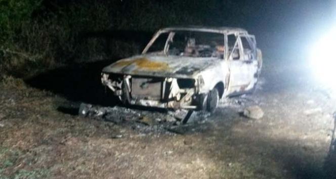 Aydın'da araç içerisinde yanmış ceset bulundu