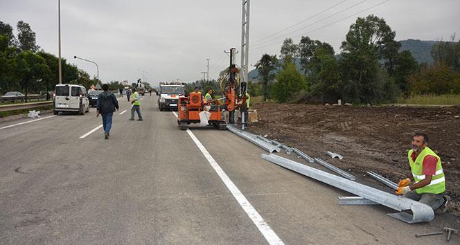 Ordu'da selin yıktığı köprü trafiğe açıldı