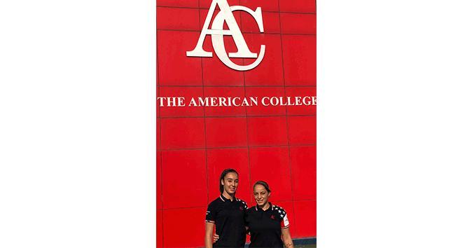 KKTC Kadın Milli Futbol Takımı'na, Amerikan Kolej'li iki öğrenci seçildi