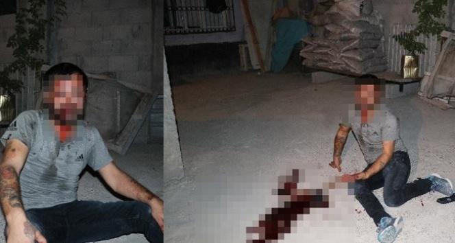 Ev sahibiyle karşılaşan hırsız kaçmak için ikinci kattan atlayınca yaralandı