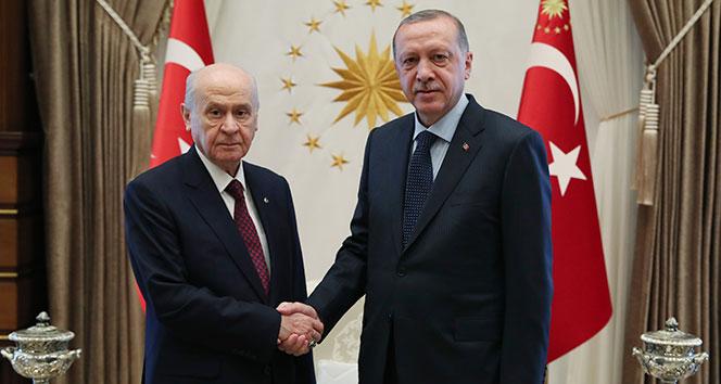 Cumhurbaşkanı Erdoğan ile Bahçeli arasında kritik görüşme