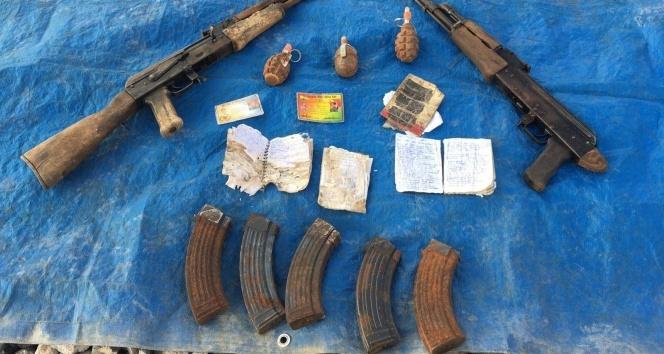 Yüksekova'da silah ve el bombaları ele geçirildi