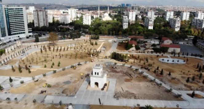 Baruthane'deki 'Millet Parkı' çalışmaları havadan görüntülendi