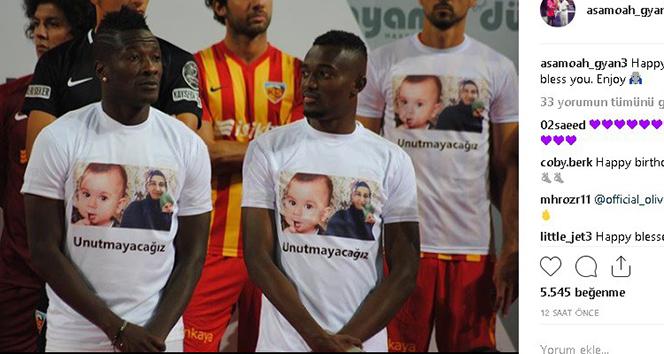 Dünyaca ünlü futbolcu Gyan, en küçük şehidin doğum gününü kutladı