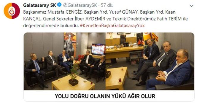 Galatasaray: 'Yolu doğru olanın yükü ağır olur'