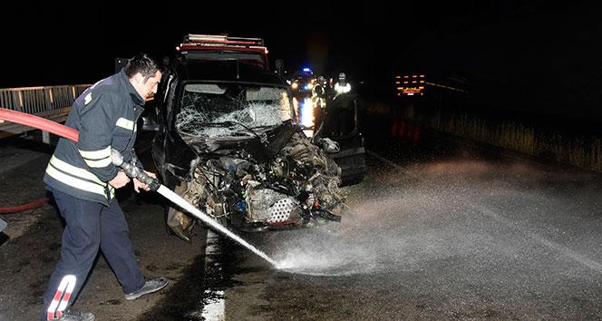Gümüşhane'de trafik kazası: 6 yaralı..
