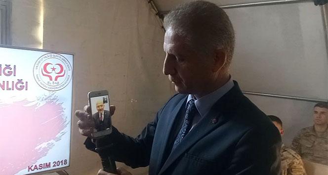 İçişleri Bakanı Soylu'dan El-Bab'daki askerlere moral