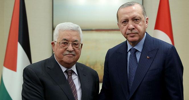 Cumhurbaşkanı Erdoğan, Filistin Devlet Başkanı Abbas'la telefonda görüştü