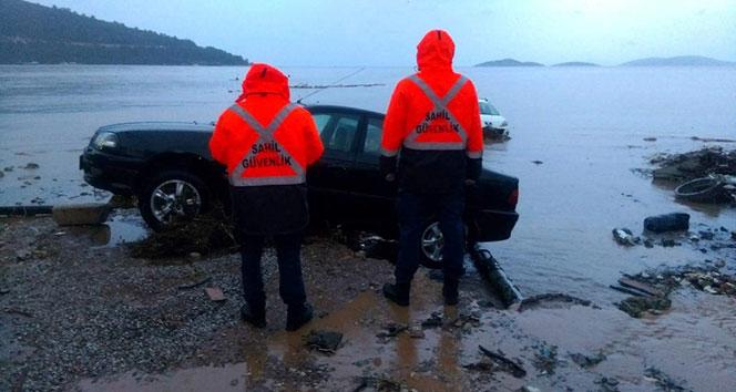 Selin denize sürüklediği 2 balıkçı son anda kurtarıldı