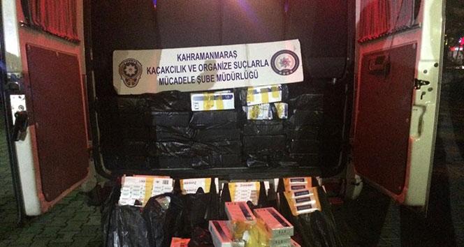 Kahramanmaraş'ta kaçak sigara operasyonu...