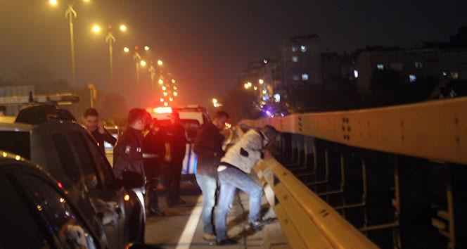 Viyadükte intihar girişimi trafiği alt üst etti