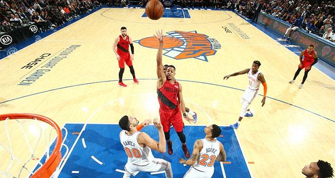 NBA'de Portland deplasmanda New York Knicks'i mağlup etti