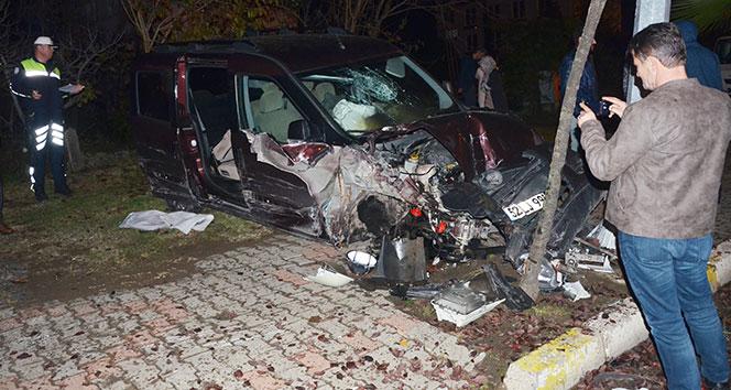 Ünye'de trafik kazası: 2 yaralı
