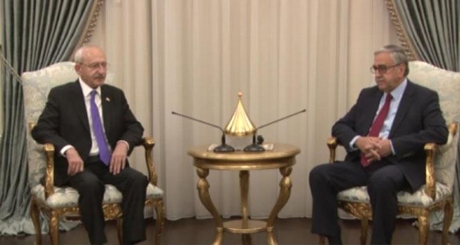 KKTC Cumhurbaşkanı Akıncı, CHP Genel Başkanı Kılıçdaroğlu'nu kabul etti