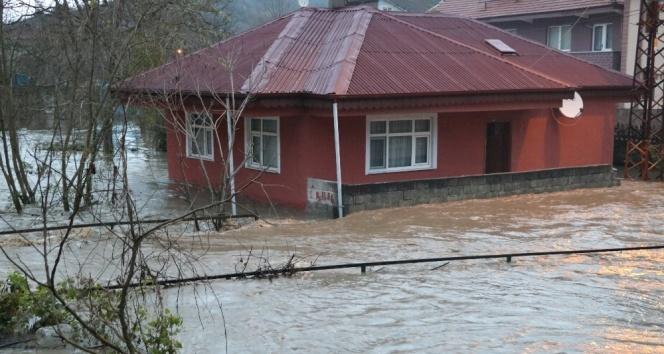 Biriken yağmur suları mahalleyi göle çevirdi