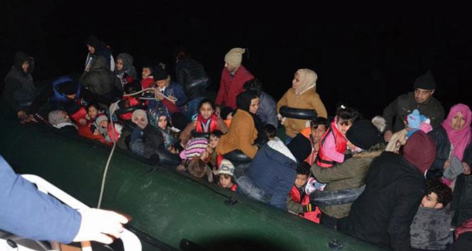 Kuşadası Körfezi'nde 39'u çocuk 60 kaçak göçmen yakalandı