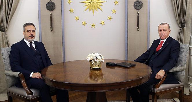 Cumhurbaşkanı Erdoğan, MİT Başkanı Fidan'ı kabul etti