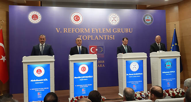 4 Bakan'dan ortak açıklama! 5. Reform Eylem Grubu Toplantısı'nda önemli mesajlar