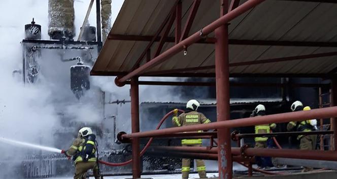 Bitkisel yağ fabrikasında yangın