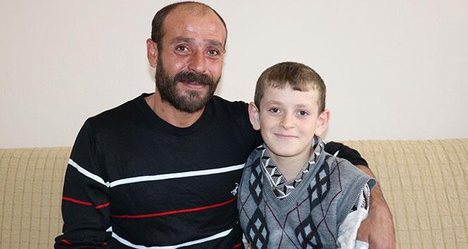 Böbrek hastası Hasan'ın yüzü yardımlarla güldü