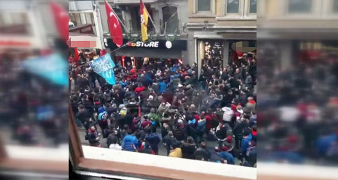 Trabzonspor taraftarları GS Store'a saldırdı