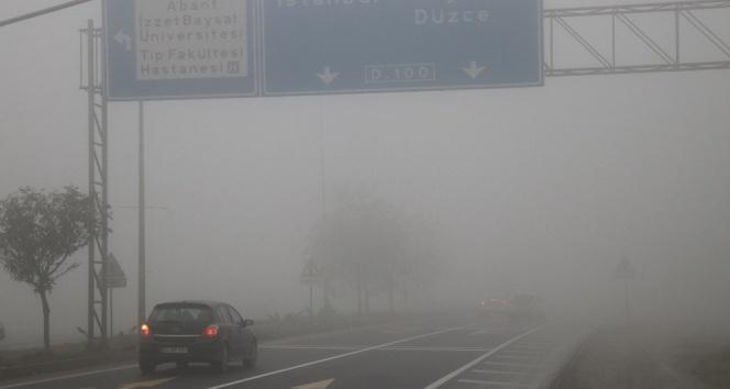 Bolu Dağı'nda yoğun sis etkili oluyor!