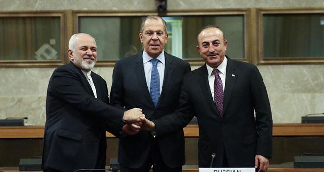 Türkiye, Rusya ve İran Dışişleri Bakanlarından ortak açıklama