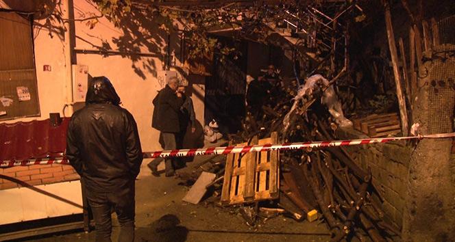 Beykoz'da istinat duvarı evin üzerine yıkıldı
