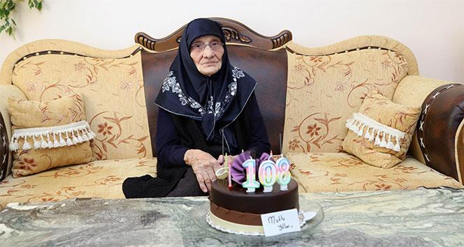 Aişe nine 108 yaşında ilk kez doğum gününü kutladı