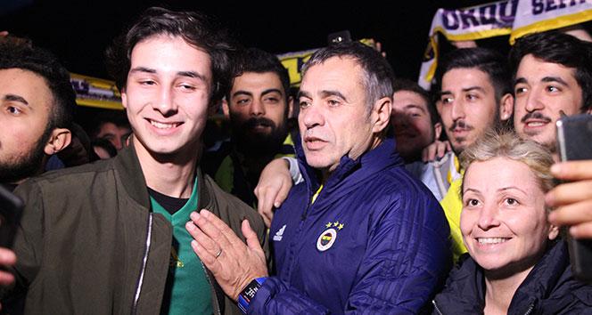 Fenerbahçe, kupa maçı için Giresun'a geldi