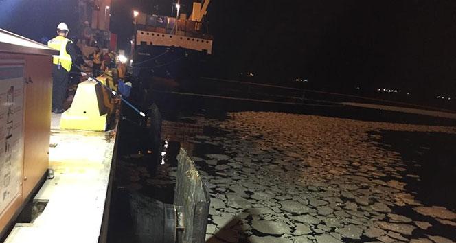 Körfez'e palm yağı sızdıran gemiye 422 bin TL ceza