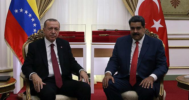 Cumhurbaşkanı Erdoğan, Maduro ile telefonda görüştü!
