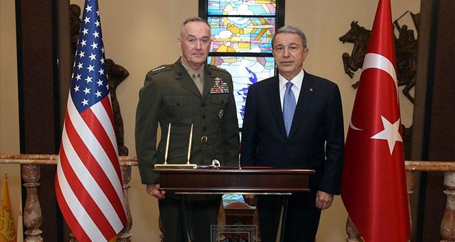 Milli Savunma Bakanı Akar, ABD Genelkurmay Başkanı Dunford ile bir araya geldi