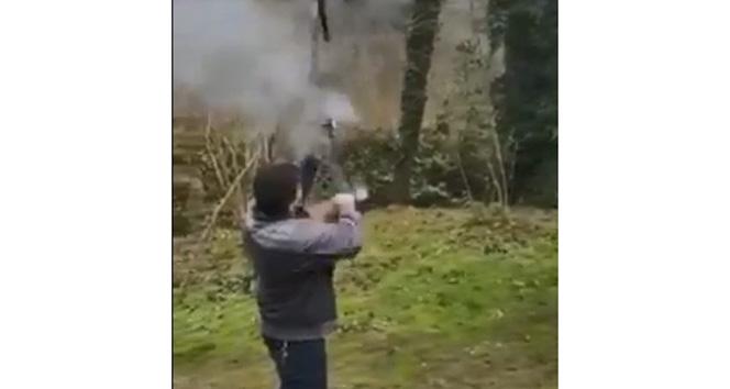 İnanılmaz olayda tüfek elinde patladı