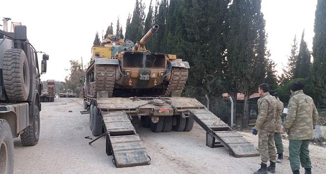 Hatay sınırına askeri tank sevkiyatı
