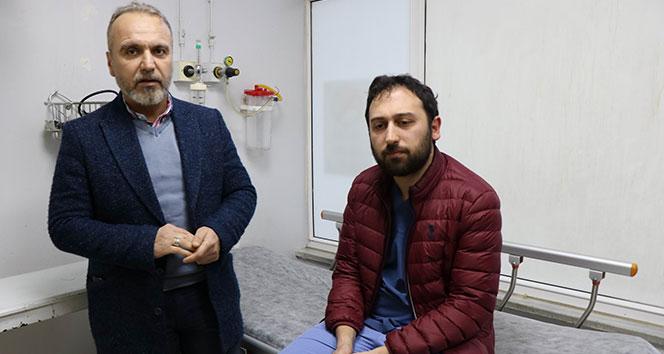 Samsun'da hasta yakını doktoru darp etti
