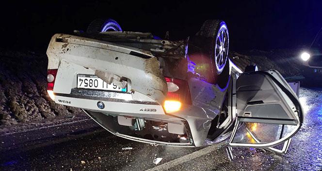 Bursa'da otomobil takla attı: 5 yaralı