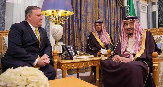 ABD Dışişleri Bakanı Pompeo, Suudi Arabistan Kralı Selman ile görüştü