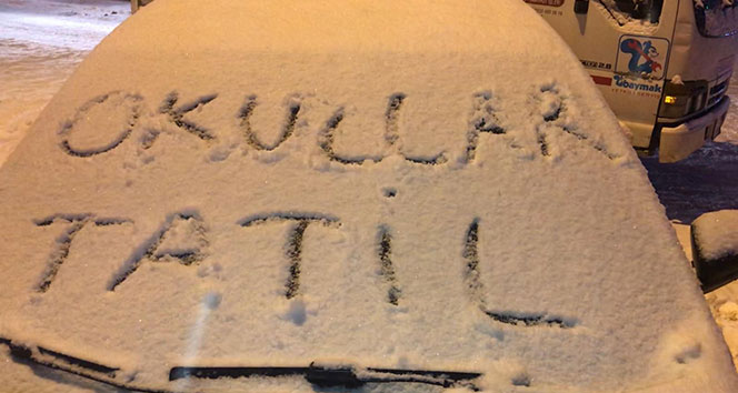 Tokat'ta eğitime kar tatili| Tokat'ta 17 Ocak Okullar Tatil Mi?