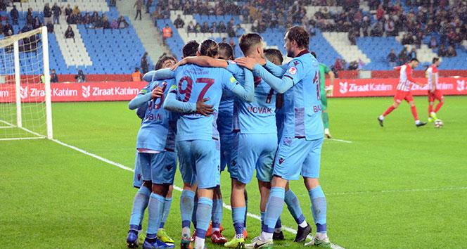 Trabzonspor, kupada avantajı kaptı