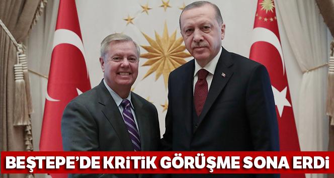 Cumhurbaşkanı Erdoğan'ın ABD'li Senatör Graham'ı kabulü sona erdi