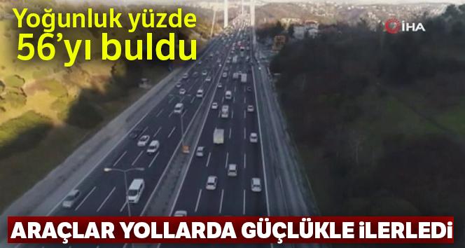 İstanbul'da 'karne' trafiği havadan görüntülendi