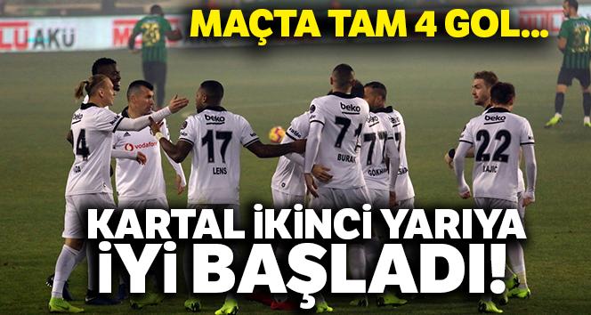 Beşiktaş ikinci yarıya iyi başladı! Tam 4 gol  AKHİSARSPOR:1 BEŞİKTAŞ:3 (MAÇ SONUCU)
