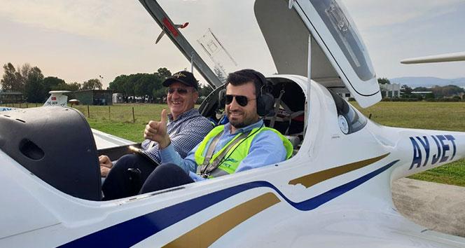 Selçuk Bayraktar'ın pilotluk sevinci