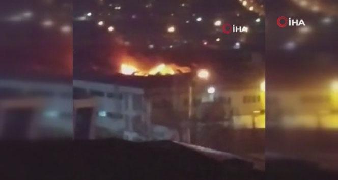 Avcılar'da dondurma fabrikasında korkutan yangın