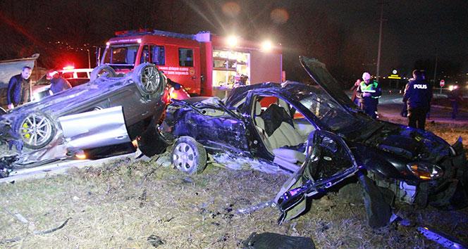 Nişanlı çifti trafik kazası ayırdı