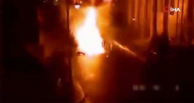 Kuzey İrlanda'daki patlama anının görüntüleri ortaya çıktı